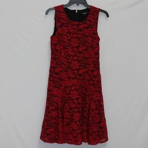 Tommy Hilfiger Lace Party Cocktail Dress Red 6